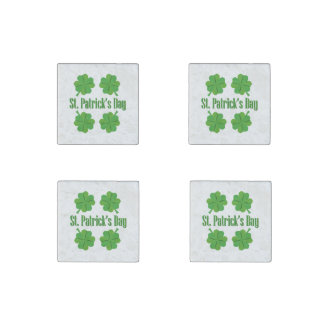 St. Patrick's Day with clover Stone Magnet