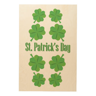 St. Patrick's Day with clover Wood Wall Decor