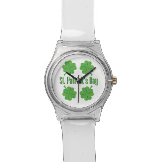 St. Patrick's Day with clover Wristwatches