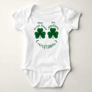 St Patrick's Shamrock Smiling Irish Infant Creeper