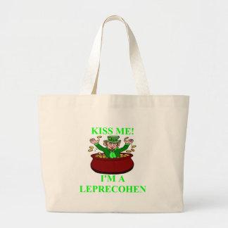 st patrick;'sday irish jewish design jumbo tote bag