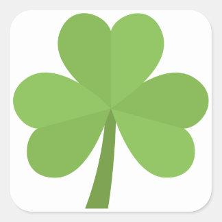 St. Patrick Shamrock Irish Ireland Clover Pattern Square Sticker
