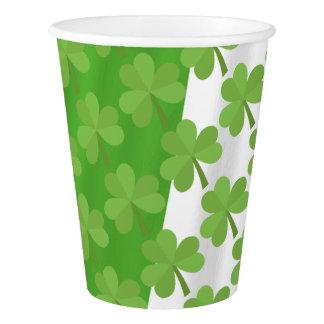 St. Patrick Shamrock Irish Ireland Clovers Pattern Paper Cup