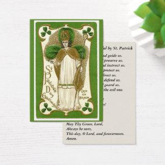St. Patrick Shamrocks Bishop Prayer Business Card