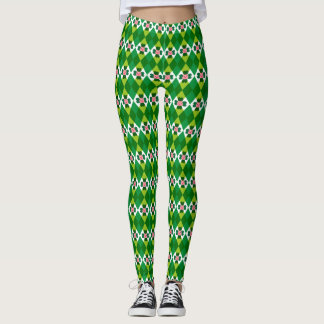 St. Patrick's Argyle With Lucky Pig Leggings