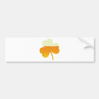 st patricks beer clover bumper sticker
