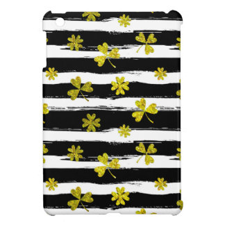 st patricks black white clover iPad mini covers