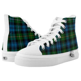 St. Patrick's Blue/Green Tartan Printed Shoes