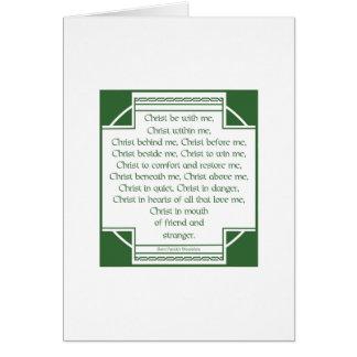 St. Patrick's Breastplate Card