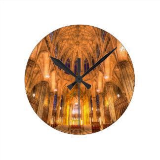 St Patrick's Cathedral Manhattan New York Round Clock