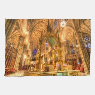 St Patrick's Cathedral Manhattan New York Tea Towel