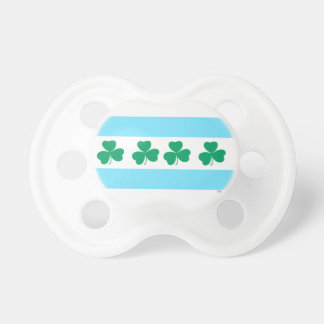 St Patrick's Chicago Dye the River Green Baby Pacifier