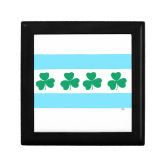 St Patrick's Chicago Dye the River Green Small Square Gift Box