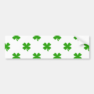 st patricks clover emoji bumper sticker