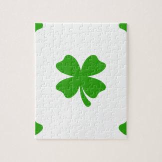 st patricks clover emoji jigsaw puzzle