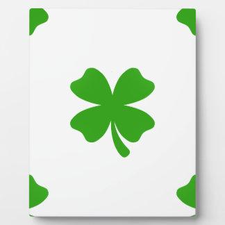 st patricks clover emoji plaque