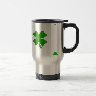 st patricks clover emoji travel mug