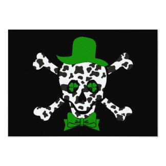 St. Patrick's Cow Skull 13 Cm X 18 Cm Invitation Card