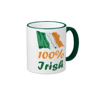 St. Patricks Day 100% Irish Coffee Mugs