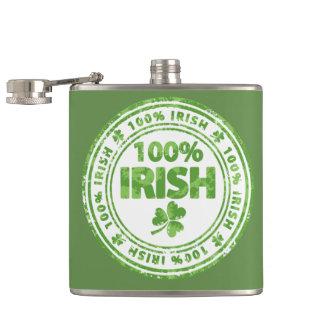 St. Patrick's Day 100% Irish Flask