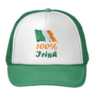 St. Patricks Day 100% Irish Mesh Hat