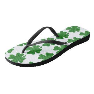 St. Patrick's Day Adult Slim Strap Flip-Flops Thongs