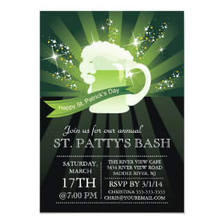 St. Patrick's Day Annual Bash Party Card