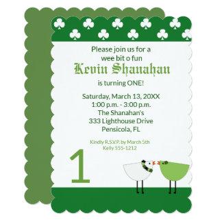 St. Patrick's Day Any Age Birthday Invite Die Cut