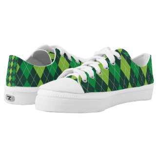 St. Patrick's Day Argyle Printed Shoes