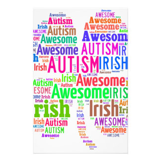 St. Patrick's Day Autism Awareness Products Customised Stationery