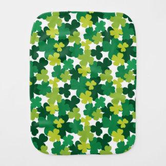 St. Patrick's Day Baby Shamrock Pattern Burp Cloth