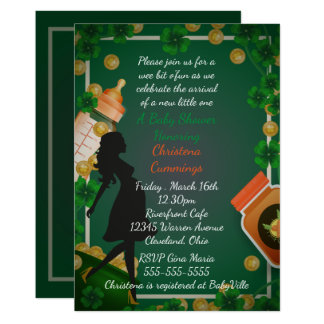 St. Patrick's Day Baby Shower Invitation