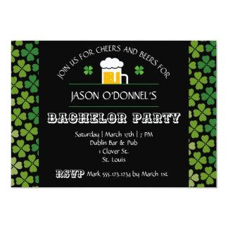 St. Patrick's Day Bachelor Party Invitation