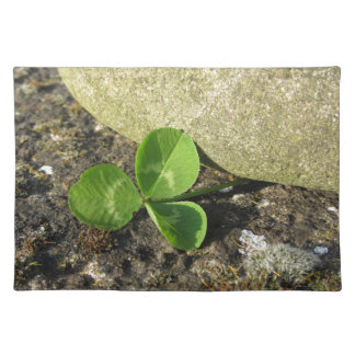 St. Patrick's Day background with clover by stone Placemat