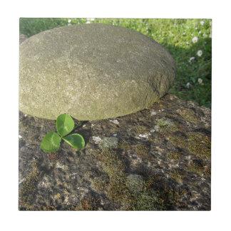 St. Patrick's Day background with clover shamrock Ceramic Tile