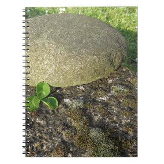 St. Patrick's Day background with clover shamrock Notebook