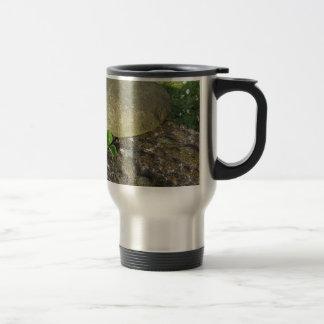 St. Patrick's Day background with clover shamrock Travel Mug