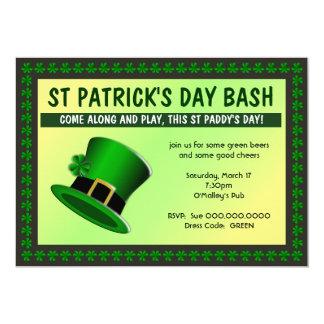 St Patrick's Day Bash Hat Invitation