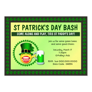St Patrick's Day Bash Invitation