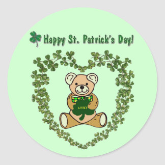 St. Patrick's Day Bear Sticker