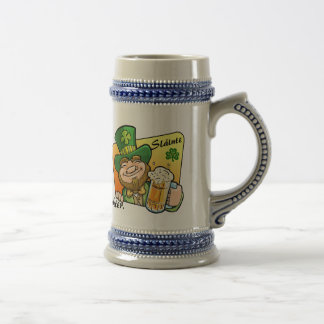 St Patrick's Day Beer Stein Mug With Toast