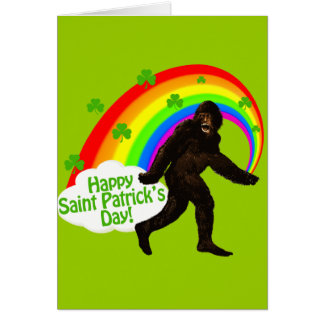 St. Patrick's Day Bigfoot Card