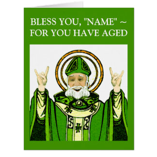 St. Patrick's Day Birthday Big Greeting Card