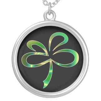 St. Patrick's Day / Black and Green Shamrock Neckl Necklaces