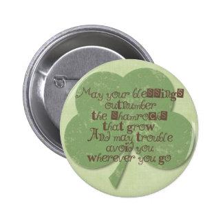 St. Patricks Day Blessing 6 Cm Round Badge