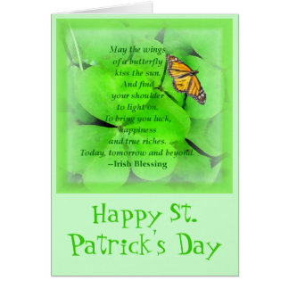 St. Patrick's Day Blessing Card