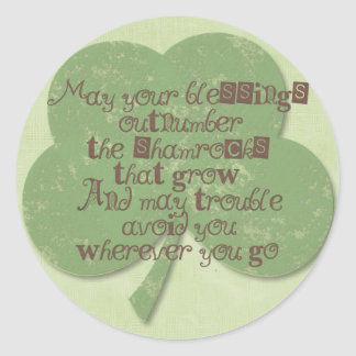 St Patricks Day Blessing Stickers