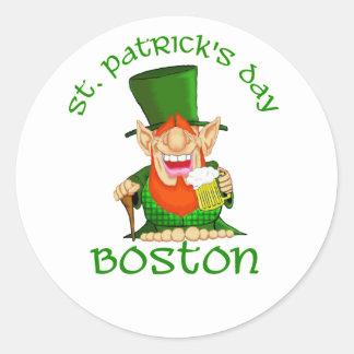 St Patricks Day Boston ~ Patty O Party Sticker