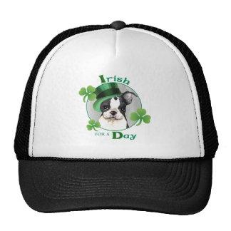 St. Patrick's Day Boston Terrier Cap