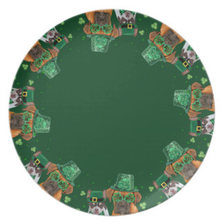 St. Patrick's day Boxer dinner plate